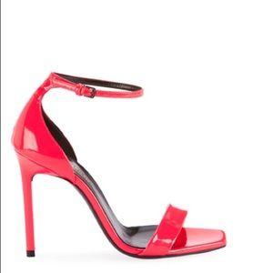 Neon pink YSL heels size